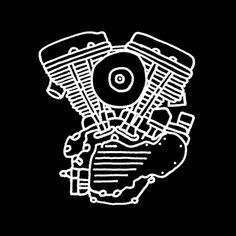 joaquinmotor.com.ar #motor #harleydavidson #black #illustration