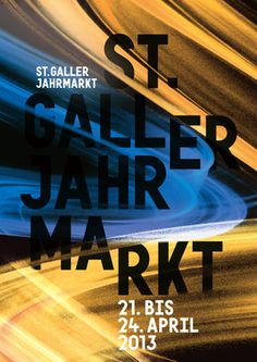 St.Galler Jahrmarkt #motion #lights #night #poster #fun #typography