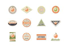 Latitudes by 3 Advertising #logos #marks #icons #vintage #badges