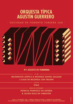 OTAG @ Turdera #agustin #orchestra #argentina #bandoneon #guerrero #illustration #aires #afiche #musica #poster #buenos #music #tango #instrument #rompo