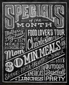 Dana Tanamachi | Custom Chalk Lettering - Home #blackboard #chalk #food #special #hand