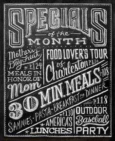 Dana Tanamachi | Custom Chalk Lettering - Home #hand #food #blackboard #chalk #special