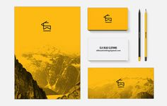 elk_brand2.jpg #mock #business #card #up #stationery #logo