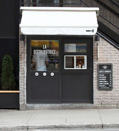 La Distributrice: Smallest cafe place in North America The Dieline #shop