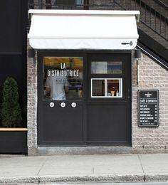 La Distributrice: Smallest cafe place in NorthAmerica The Dieline #shop