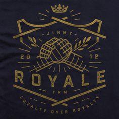 Jimmy Royale Logo Lock-up #vintagelogo #logo #shield