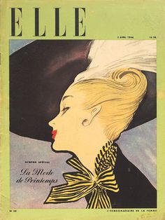 elle april 1946 #rene #gruau #illustration #fashion #elle #magazine