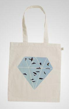 Sofia Ling – Grafisk Design #tote #diamond #design #graphic #totebag #birds