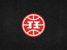 Dribbble - Hoops Family Monogram - logomark by Gert van Duinen #monogram #logo #red #branding
