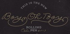 Fonts - Rolling Pen by Sudtipos - HypeForType Font Shop