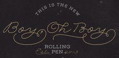 Fonts - Rolling Pen by Sudtipos - HypeForType Font Shop #type #script