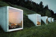 Garagenatelier by Peter Kunz #architecture #garage #parking