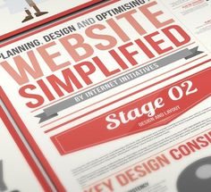 Website simplified infographic design on the Behance Network