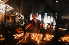 Butter Lamp Room, Dalai Lama Temple, McLeodganj, India #rahullal #rahullalphotography #mcleodganj #dharamshala #india #dalailama