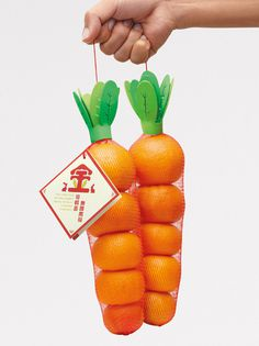 "A ""Golden Carrot"", incredibly clever packaging to wish success #carrot"