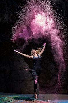 Powder Dance Creative Directors: Jessica Reynolds & Matt Porteous Photography: Matt Porteous #color #dance #photography #street #powder
