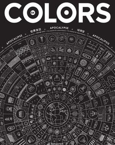 COLORS 84: Apocalypse – A Survival Guide #white #blackwhite #iconography #black #illustration #magazine