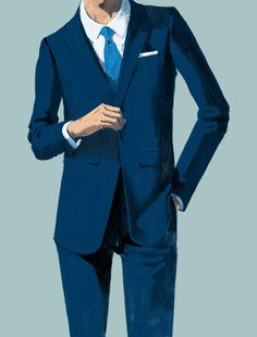 Dunhill Menswear St James Suit by Marc Aspinall The Tree House Press #jacket #hand #illustration #blazer #made #suit #drawing #tie