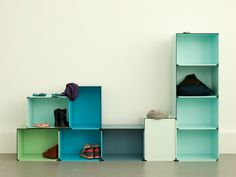 Add a pop of colour and take complete control in designing your own versatile storage system for an tight space, either at #home or the offi