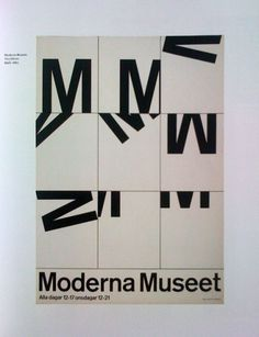 Movement and repetition. #modern #print #design #museet #minimal #poster #typography