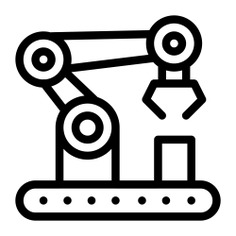 See more icon inspiration related to robot, arm, factory, industry, robot arm, industrial, mechanical, manipulator and Tools and utensils on Flaticon.