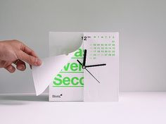 Antalis Calenclock 2012 by Ken Lo | inspirationfeed.com #calendar #design #product #time #clock #green