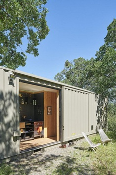 40' Highboy Shipping Container Turned into a Cozy Hunting Cabin 2