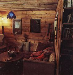 photo #cabin #wood #living #room