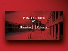 Pompeii App - User Interface by Orimat #ui #design #interface #designbyorimat #website #pompeii
