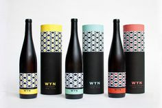 South African wine packaging WYN #packaging #africa #design #label #wine #south