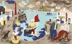 The school prints stunning vintage lithographs from the 1940s   Countryside La Vie Online #illustration #vintage