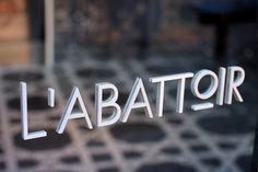 L'abattoir Restaurant - Glasfurd & Walker : Concept / Graphic Design / Art Direction : Vancouver, BC #storefront #restaurant #logo #identity #type