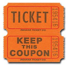 TICKET - KEEP THIS COUPON