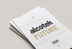 Alcotek Future on Behance #lines #print #trand #presentation #cover #minimal #future