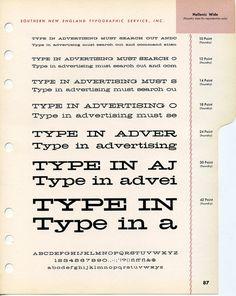 Hellenic Wide type specimen #type #specimen #hipster