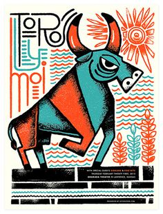 Vahalla Studios #illustration #poster #screenprint #bull #vahalla studios