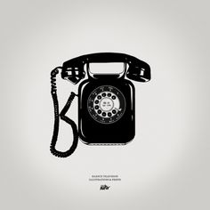 Silence Television new vintage prints #white #phone #print #black #illustration #vintage #and #telephone #bw