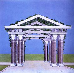 Kevin Roche and John Dinkeloo Associates, Renovation of Central Park Zoo, Perspective of Pergola, New York, New York, 1980