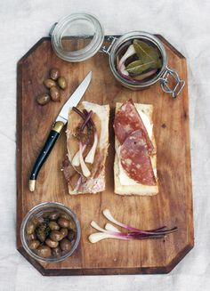 FFFFOUND! #olives #knife #salami #pickles