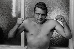 Photograph of a hard-man boxer in Fitzroy
