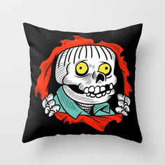 The Ralpher via www.society6.com/thefactorykids #simpsons #ralph wiggum #skull #ripper #bones #skateboard #skate