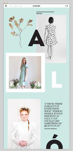 "Le SALÃ""N by Inbal Lapidot, via Behance (https://www.behance.net/gallery/Le SALON/11604377) #design #web #editorial #ux"