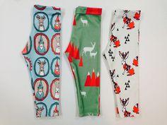 Image of MOUNTAIN DEER ORGANIC COTTON LEGGINGS #deer #pattern #leggins #fashion #rabbit #kids