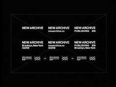 New Archive (Logo System) new york publisher type branding logo brooklyn new archive