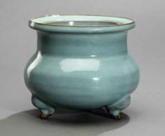 Fine lavender blue glazed incense burner, Jun Ware #Sets #Teasets #Porcelainsets #Antiqueplates #Plates #Wallplates #Figures #Porcelainfigurines #porcelain