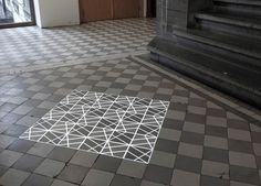 time_tilings_03 #tiles #projection #mapping #geometry #white