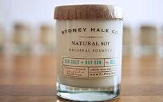 Sydney Hale Co #typography #packaging #grid #sticker #candle