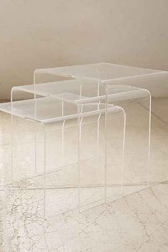 Acrylic Nesting Tables, Urban Outfitters