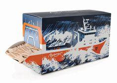 Ocean Trawlers Fish ForkDispenser The Dieline #packaging #illustration