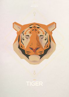 큰 고양이 - Hadrien Degay Delpeuch #vector #cat #paper #illustration #minimal #tiger #animal #8bit